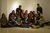 with Curator philippe van cauteren, Chair Person of Kathmandu Triennale Sangita Thapa, Namita Saraf from Saraf Foundation, Assistant Curator Bjorn Heyzak and volunteers.